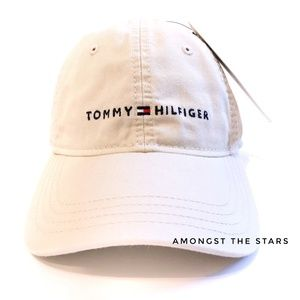 Tommy Hilfiger Embroidered Khaki Tan Dad Hat Cap